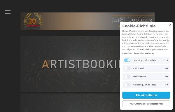 Vorschau von www.msbooking.de, mS - booking