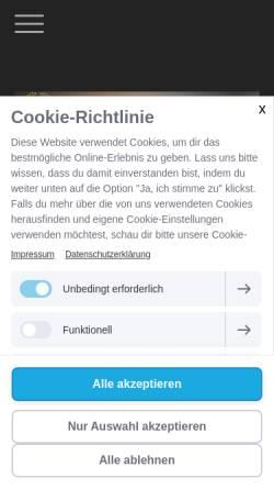 Vorschau der mobilen Webseite www.msbooking.de, mS - booking