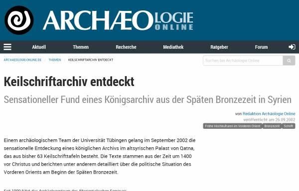 Vorschau von www.archaeologie-online.de, Palast mit Archiv aus Qatna, Syrien, späte Bronzezeit