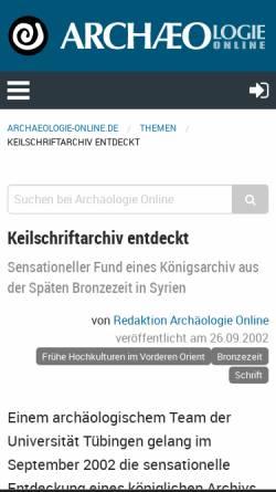 Vorschau der mobilen Webseite www.archaeologie-online.de, Palast mit Archiv aus Qatna, Syrien, späte Bronzezeit