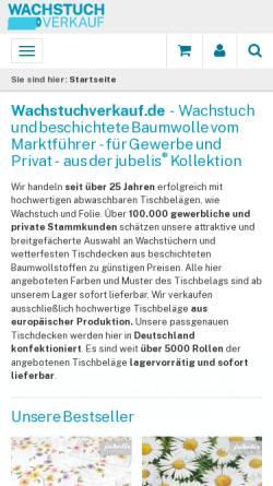 Vorschau der mobilen Webseite www.wachstuchverkauf.de, Burghard Kuhlemann e. K.