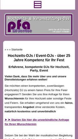 Vorschau der mobilen Webseite www.party-for-all.de, Party For All