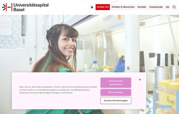 Vorschau von www.kantonsspital-basel.ch, Kantonsspital Basel