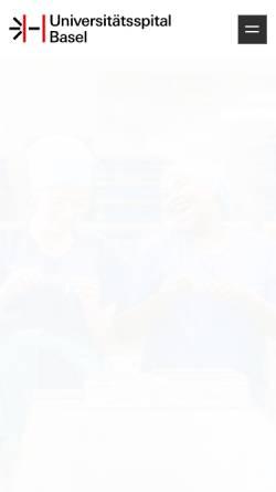 Vorschau der mobilen Webseite www.kantonsspital-basel.ch, Kantonsspital Basel