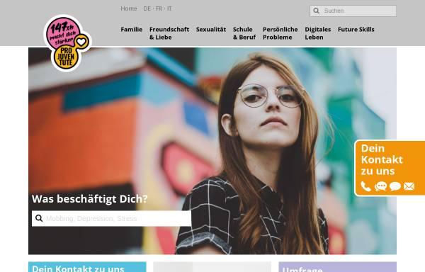 Vorschau von www.147.ch, #147 - Telefonhilfe