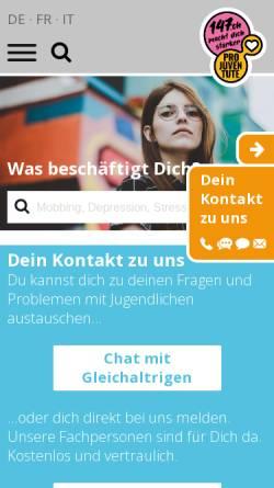 Vorschau der mobilen Webseite www.147.ch, #147 - Telefonhilfe