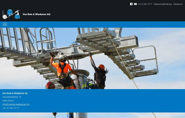 Vorschau von www.vonrotz-seilbahnen.ch, Von Rotz Seilbahnen AG