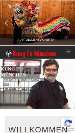 Vorschau der mobilen Webseite kung-fu-muc.de, Münchner Kung Fu Sportschule GmbH