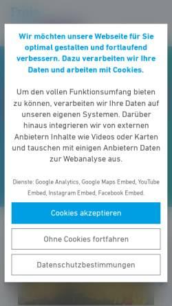 Vorschau der mobilen Webseite www.fdp-hessen.de, FDP Hessen
