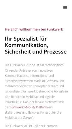 Vorschau der mobilen Webseite www.funkwerk-itk.com, Funkwerk Information Technologies Karlsfeld GmbH