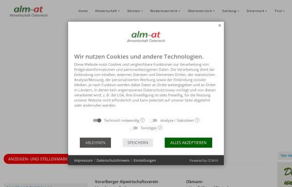 Vorschau von www.almwirtschaft.com, Verein Almwirtschaft