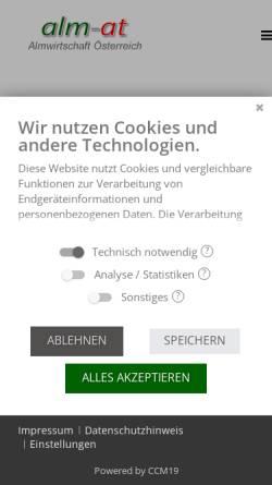 Vorschau der mobilen Webseite www.almwirtschaft.com, Verein Almwirtschaft