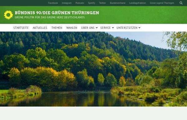 Vorschau von www.gruene-thueringen.de, Bündnis 90/Die Grünen Landesverband Thüringen