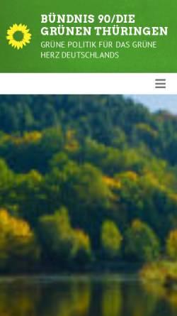 Vorschau der mobilen Webseite www.gruene-thueringen.de, Bündnis 90/Die Grünen Landesverband Thüringen