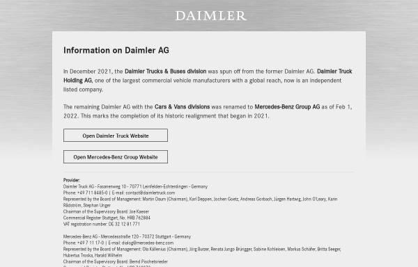 Vorschau von www.daimler.com, Daimler