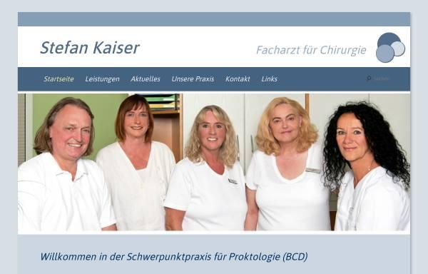 Vorschau von www.proktologiepraxis-kaiser-bielefeld.de, Praxis Stefan Kaiser