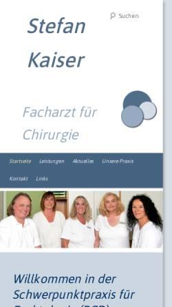 Vorschau der mobilen Webseite www.proktologiepraxis-kaiser-bielefeld.de, Praxis Stefan Kaiser