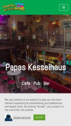 Vorschau der mobilen Webseite www.kesselhaus-madhouse.de, Papas Kesselhaus