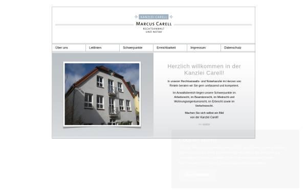 Vorschau von www.kanzlei-carell.de, Kanzlei Carell