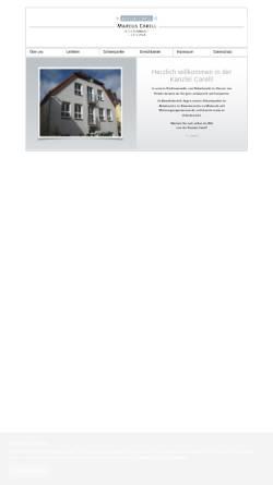 Vorschau der mobilen Webseite www.kanzlei-carell.de, Kanzlei Carell