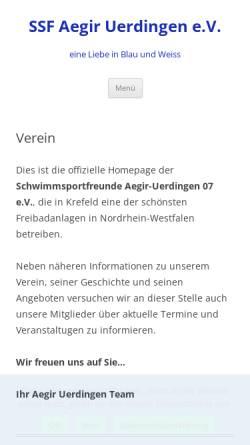 Vorschau der mobilen Webseite www.aegir-uerdingen.de, SSF Aegir Uerdingen 07 e.V.