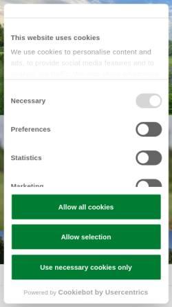 Vorschau der mobilen Webseite www.bielefelder-golfclub.de, Bielefelder Golfclub
