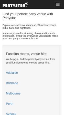 Vorschau der mobilen Webseite www.melbournepubs.com, Kneipen, Bars und Diskotheken in Melbourne