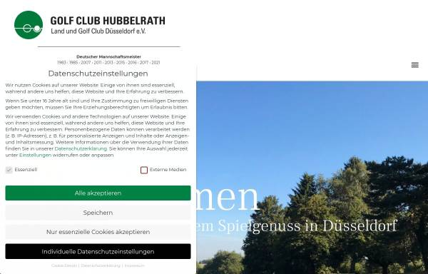 Vorschau von www.gc-hubbelrath.de, Golf Club Hubbelrath