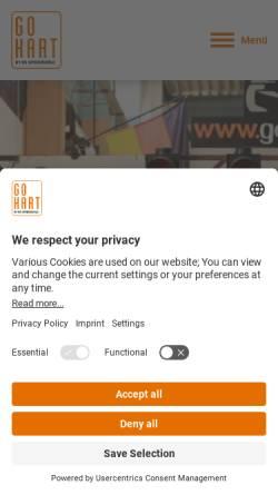 Vorschau der mobilen Webseite www.gokart-online.de, RS Speedworld Indoor-Karting GmbH