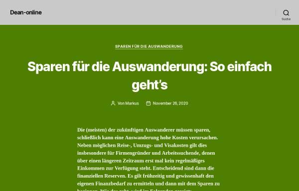 Vorschau von www.dean-online.de, Deutsch-Australisches Netzwerk (DeAN) e.V.