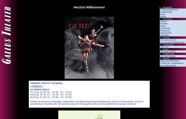 Vorschau von www.gallustheater.de, Gallus Theater