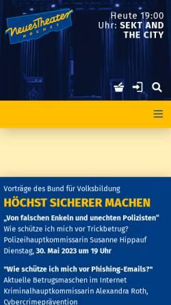 Vorschau der mobilen Webseite www.neues-theater.de, Neues Theater Höchst