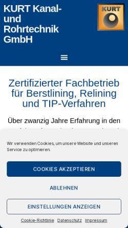 Vorschau der mobilen Webseite www.kurt-chemnitz.de, Kanal- und Rohrtechnik GmbH