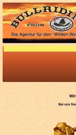 Vorschau der mobilen Webseite cowboyhat.de, Bullriding from Cowboyhat
