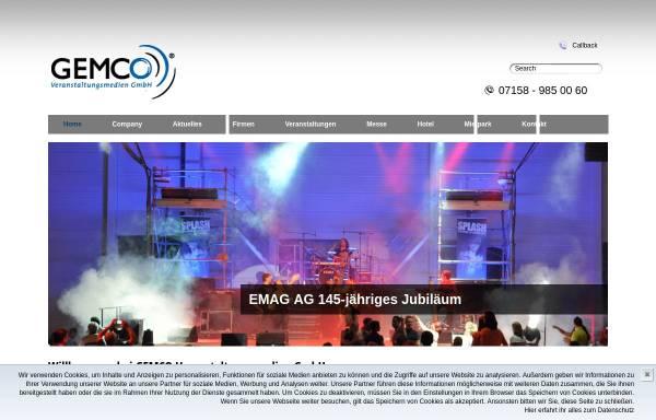 Vorschau von www.gemco.de, Gemco Veranstaltungsmedien GmbH