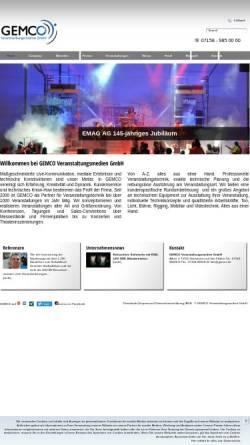Vorschau der mobilen Webseite www.gemco.de, Gemco Veranstaltungsmedien GmbH