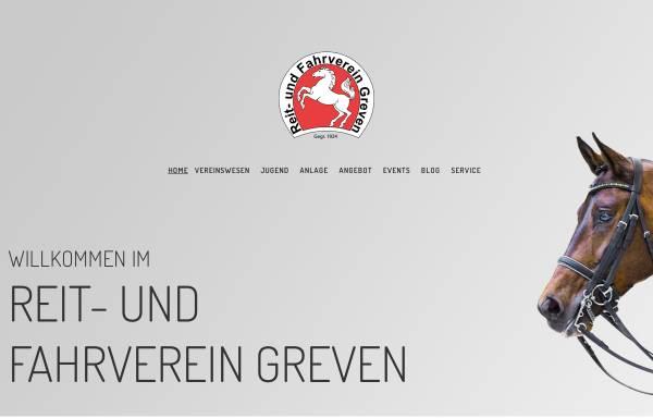Vorschau von www.ruf-greven.de, Reit- und Fahrverein Greven e.V.