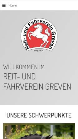 Vorschau der mobilen Webseite www.ruf-greven.de, Reit- und Fahrverein Greven e.V.