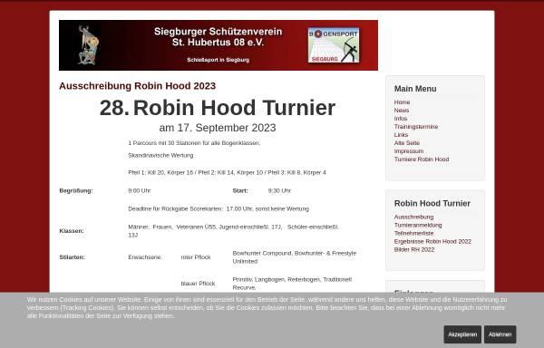 Vorschau von bogen08.de, Bogensportabteilung Sankt Hubertus 08 Siegburg