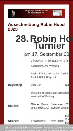 Vorschau der mobilen Webseite bogen08.de, Bogensportabteilung Sankt Hubertus 08 Siegburg