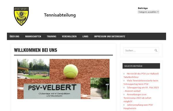 Vorschau von www.psv-tennis.de, PSV Velbert