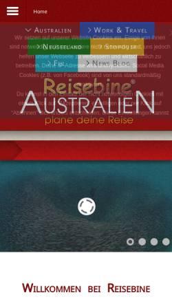 Vorschau der mobilen Webseite www.reisebine.de, Reisebine.de
