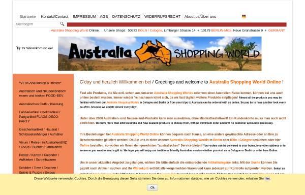 Vorschau von www.australiashop.com, Australia Shopping World GmbH