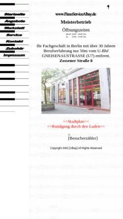 Vorschau der mobilen Webseite www.pianoservicealbay.de, Albay, Hakan