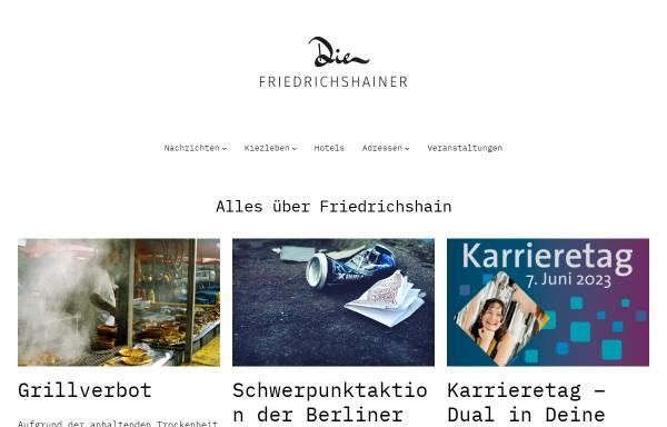 Vorschau von www.die-friedrichshainer.de, Die Friedrichshainer