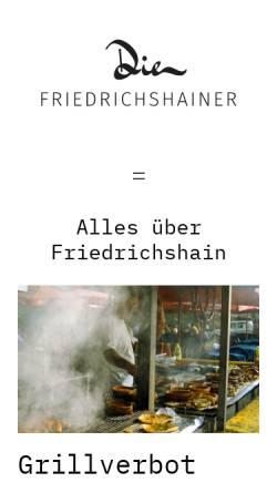 Vorschau der mobilen Webseite www.die-friedrichshainer.de, Die Friedrichshainer