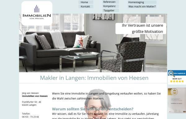 Vorschau von www.immo-vonheesen.de, Immobilien von Heesen