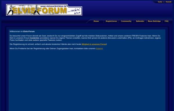 Vorschau von www.elvisnachrichten.de, Elvisnachrichten