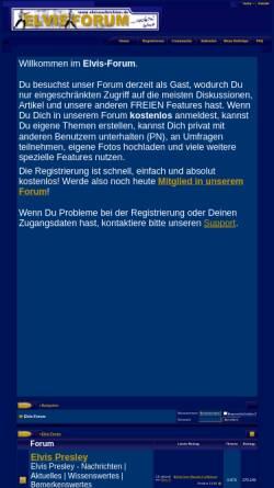 Vorschau der mobilen Webseite www.elvisnachrichten.de, Elvisnachrichten