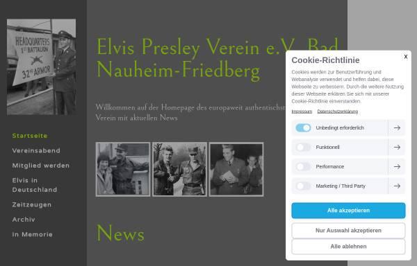 Vorschau von www.elvis-presley-verein.com, The King Elvis Presley